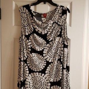 Black & white medallion dress